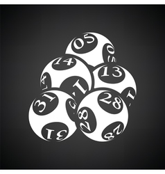 Lotto balls icon vector image