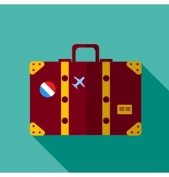 luggage suitcase vector image