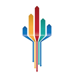 multicoloured arrow background vector image vector image