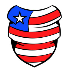 Neckerchief in usa flag colors icon cartoon vector