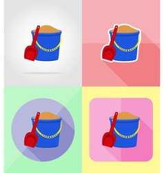 objects for recreation a beach flat icons 01 vector image vector image