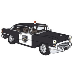 Old police car vector image vector image