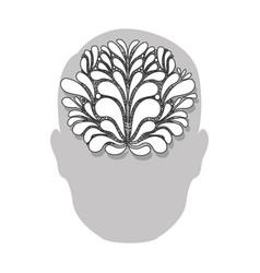 person with brain idea icon vector image vector image