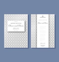 Set of wedding invitation templates cover design vector