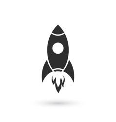 Simple rocket icon vector image