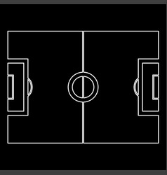 soccer field white color path icon vector image