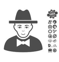 Spy icon with tools bonus vector
