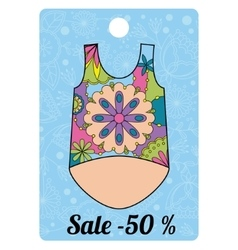 Sale label with top colorful vector