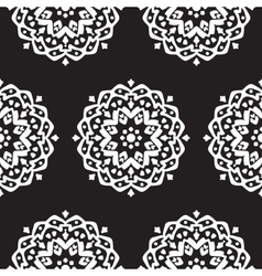 Seamless pattern with hand drawn mandalas vector