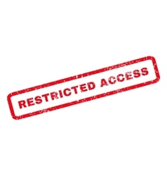 Restricted access rubber stamp vector