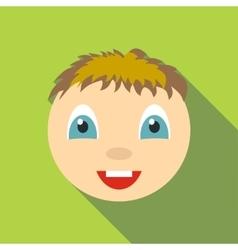 Joy icon flat style vector