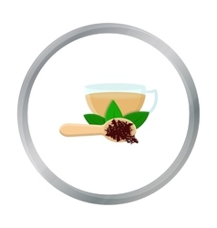 Cup of tea icon in cartoon style isolated on white vector