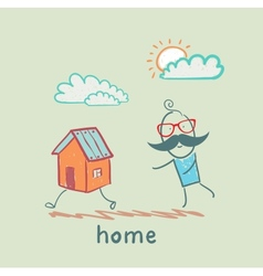 people catching home vector image