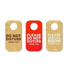 Do not disturb sign set vector
