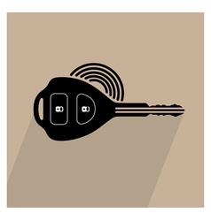 Car remote key symbol vector