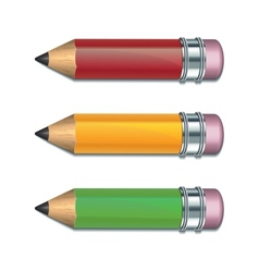 Set of coloured pencils vector