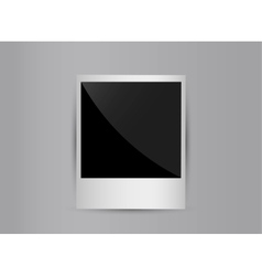 Retro 3d blank photo frame isolated on grey vector