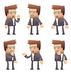 Set of director character in different poses vector
