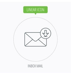 Mail inbox icon email message sign vector