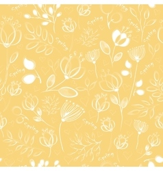 Seamless pattern white flowers vector