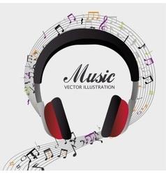 Music headphones isolated icon vector