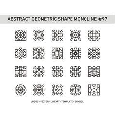 Abstract geometric shape monoline 97 vector