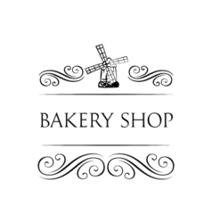 Ancient mill symbol for bakery label Windmill vector image vector image