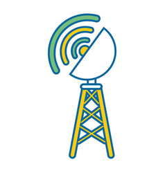 antenna icon image vector image vector image