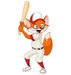 Baseball fox vector