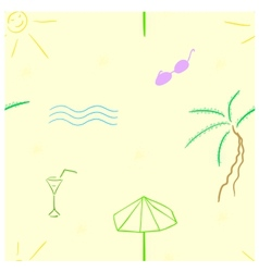 Beach seamless vector image