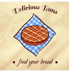 Bread On A Napkin 24 vector image vector image