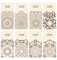 Cards vintage decorative elements vector