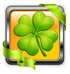 clover button vector image vector image