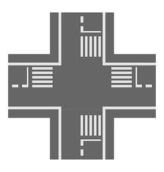Crossroad icon cartoon style vector
