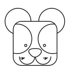 cute bear animal head expression vector image