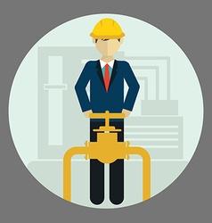 Engineer construction industrial factory vector image vector image