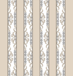 Floral seamless vintage background retro striped vector