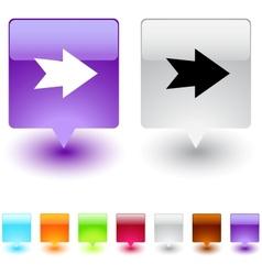 forward arrow square button vector image vector image