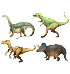 Four dinosaurs vector