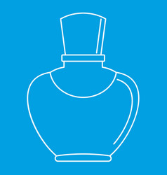 Glass bottle with perfume icon outline style vector