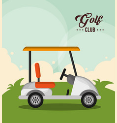 Golf club car sport design vector
