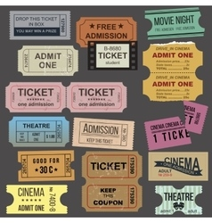 Great tickets collection vector