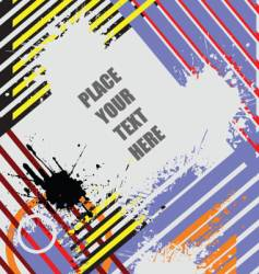 grunge stripe background vector image vector image