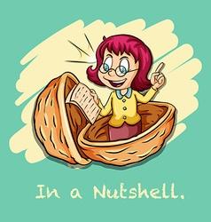 Idiom in a nutshell vector image