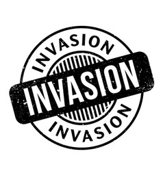 invasion rubber stamp vector image vector image