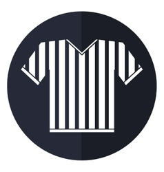 Jersey referee american football shadow vector