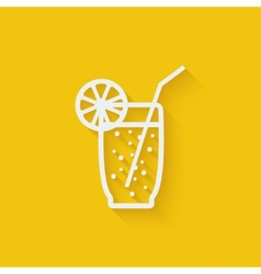 lemonade with straw vector image