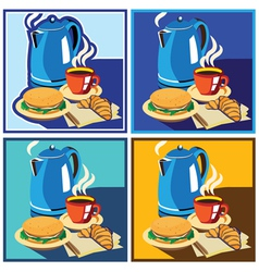 Lunch time set vector