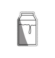 Milk box isolated vector