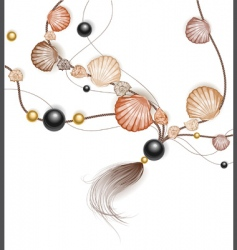 Necklace made of sea shells vector